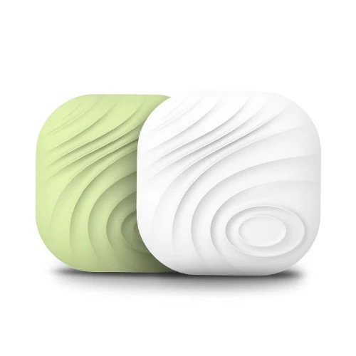2-pack in White and Green Nut Find3 Smart Tracker